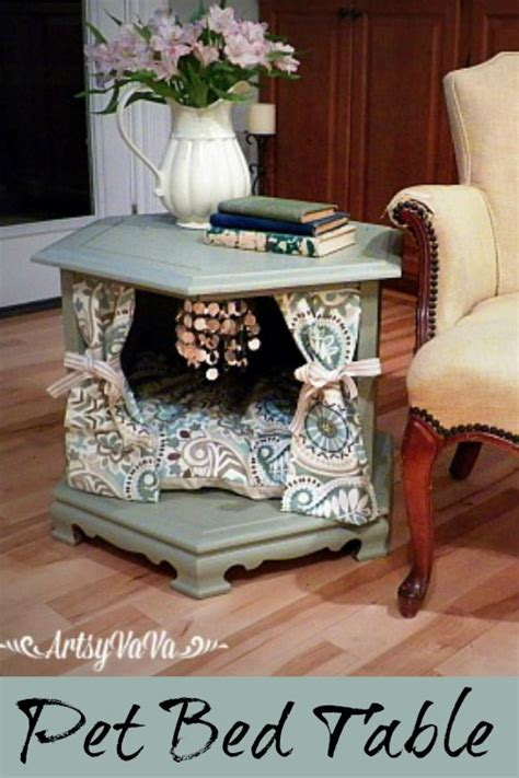 Hand Painted Kitchen Islands hometalk repurposed side table to posh pet bed