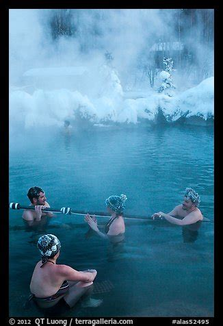 frozen hair hot springs picture photo people with frozen hair relaxing in hot