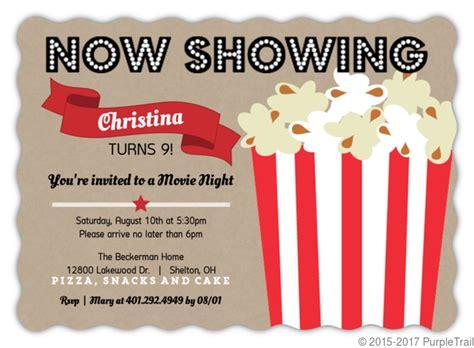 Cool Mugs Movie Night Kids Birthday Party Invitations Kids