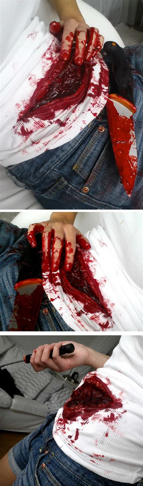 zombie shirt tutorial the 25 best ideas about wound makeup on pinterest