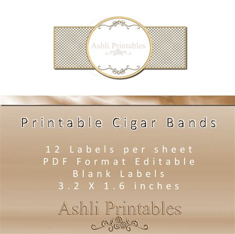 Cigar Band Labels Ashlisoapblog Soap Band Template