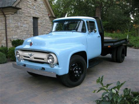 baby blue 1956 ford f600 still working! classictrucks.net