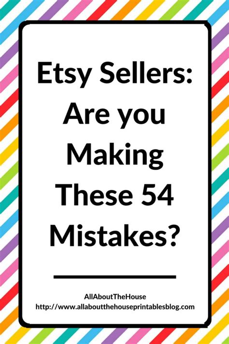 Etsy Top Sellers Handmade - etsy sellers are you these 54 mistakes