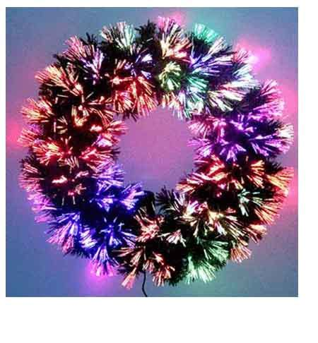 24 inch fiber optic christmas tree fiber optic wreath 24 inch