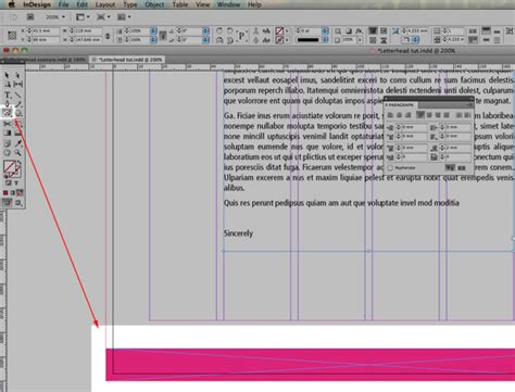 qt layout align bottom quick tip designing a basic letterhead with indesign cs5