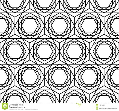 libro print pattern geometric vector modern seamless sacred geometry pattern hexagon black and white abstract stock vector