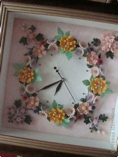 quilling clock tutorial paper quilling decorated wall clock cd photo frame or