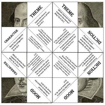 themes in hamlet and life of pi shakespeare common core cootie catchergame common cores
