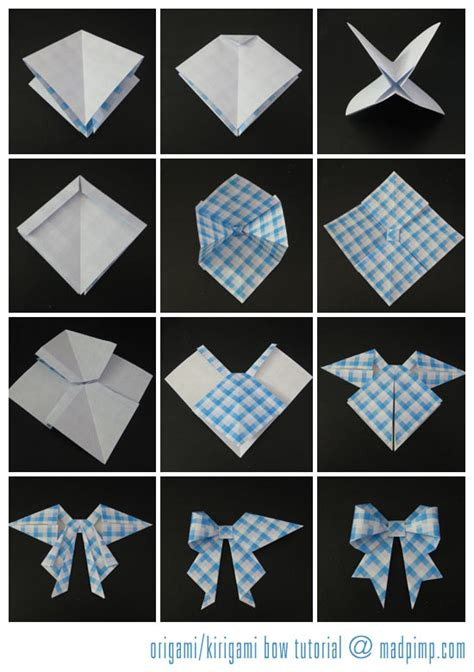 How To Make A Bow Tie Origami - origami madpimp