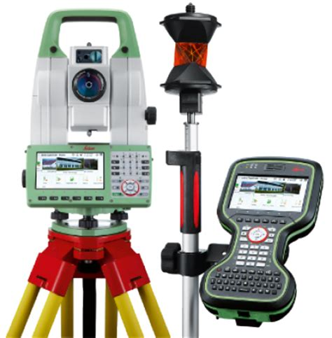 leica ts16 r500 robotic total station with cs20 field