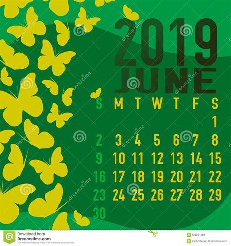 june  calendar template  abstract stock
