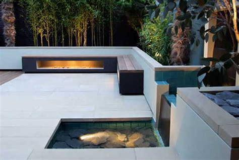 moderne terrassengestaltung mit wasser nowaday garden