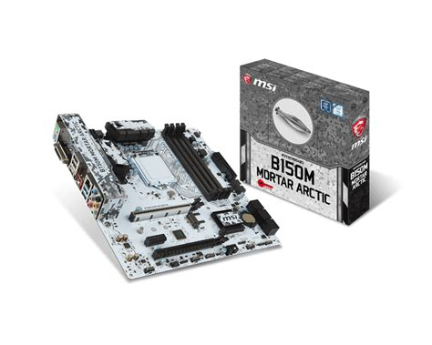 Msi B150m Mortar 1151 by Msi B150m Mortar Arctic White Lga 1151 Motherboard