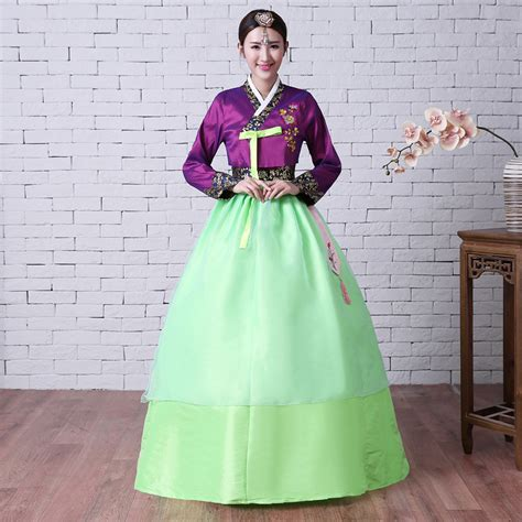 Dress Rajut Korea Green Shireen sale 2017 purple jacket green bow skirts sleeve traditional korean s hanbok