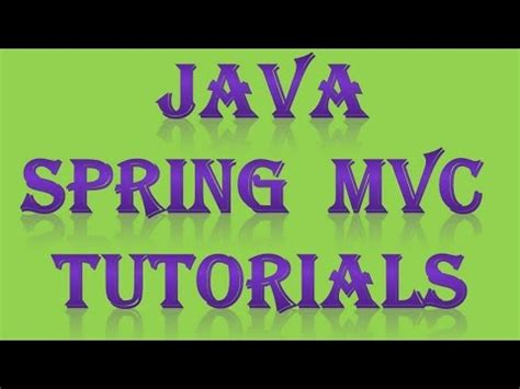 mvc tutorial php youtube spring mvc tutorial with exle part 1 youtube