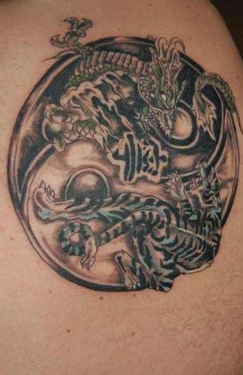tattoo yin yang animal ying yang tattoos
