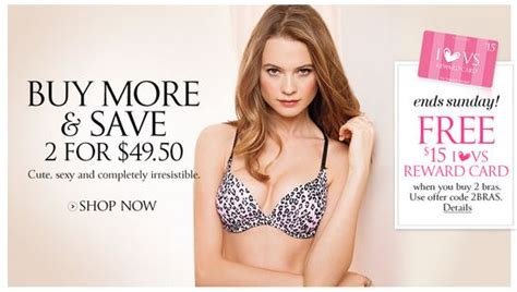 Victoria Secret Gift Card Cvs - buy 2 bras at victoria s secret and get a free 15 gift card free secret rewards