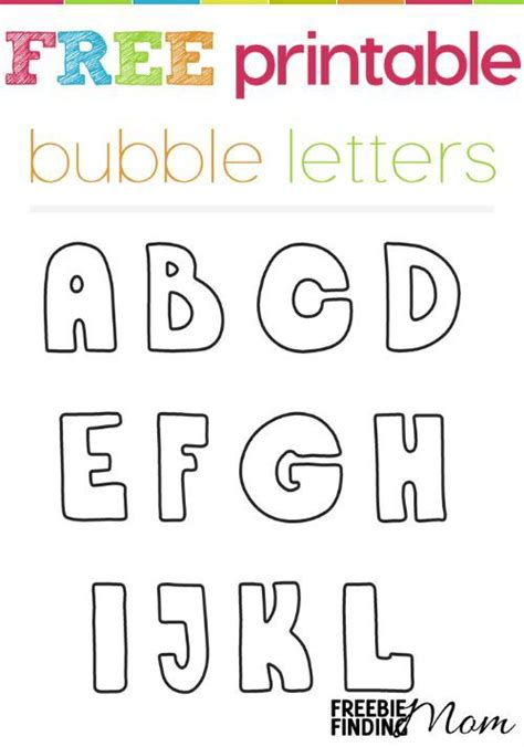 printable alphabet letters crafts free printable bubble letters color flashcards and
