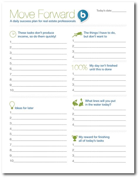 The Best To Do List Real Estate Daily Planner Template