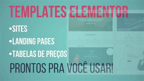 templates for elementor templates elementor sites lading pages tabelas de