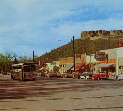 denver post business section post card of castle rock landmark on u s 85 87 between