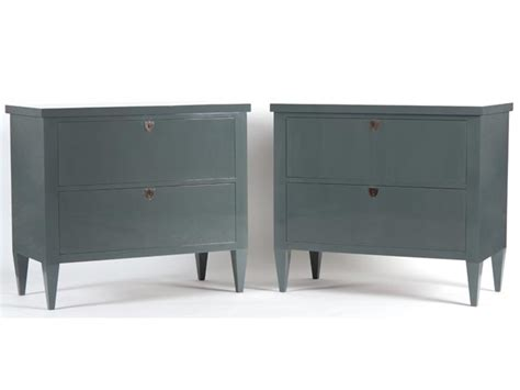 Hawkins Furniture by Hawkins Furniture Commissions A Pair Of Chests Of Drawers With Polished Grey Lacquer Finish