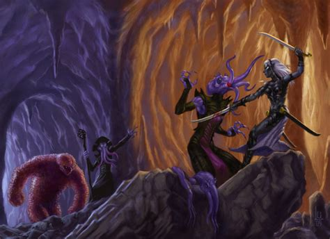 the drizzt 012 forgotten drow vs mindflayer by luvazquez on