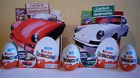 Ei Porsche Sonderedition by 8 Kinder Surprise Choco Eggs Porsche Cars Limited Edition