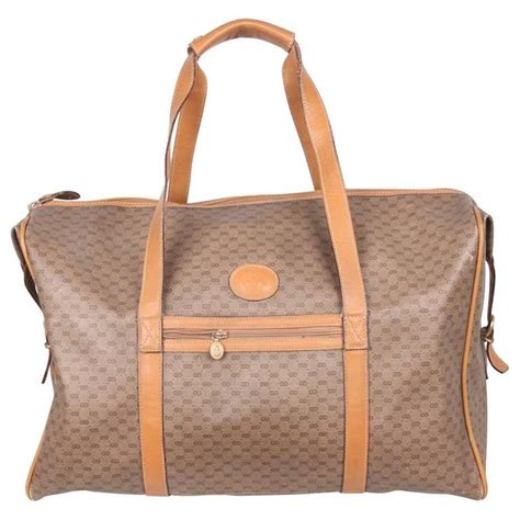 Tas Travel Bag Kanvas Gucci 1 gucci vintage gg monogram canvas weekender travel bag at 1stdibs