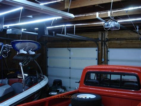 fluorescent lights for cold garage garage where cool white led strips were used to