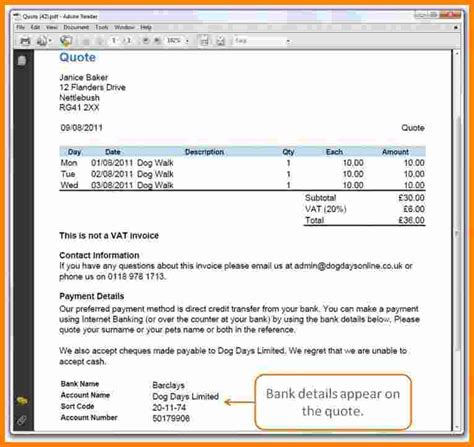 6 Invoice With Bank Details Template Ledger Paper