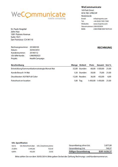 Rechnung Als Freiberufler Inqonto Buchhaltung F 252 R Freiberufler Selbstst 228 Ndige Und Kleinbetriebe