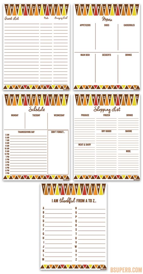 printable thanksgiving planner thanksgiving planner printables b superb