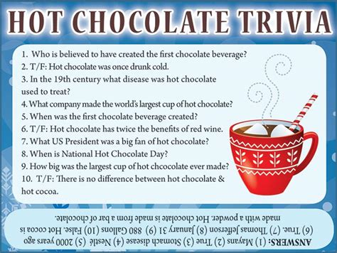 coco trivia hot chocolate trivia jamestown gazette
