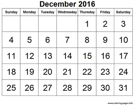 december calendar coloring pages 2016 december calendar image coloring pages printable