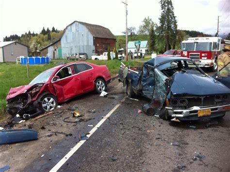 with car crashes two car crash near gaston sends both drivers to ohsu