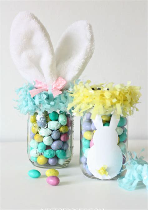 easter bunny mason jars pictures   images  facebook tumblr pinterest  twitter
