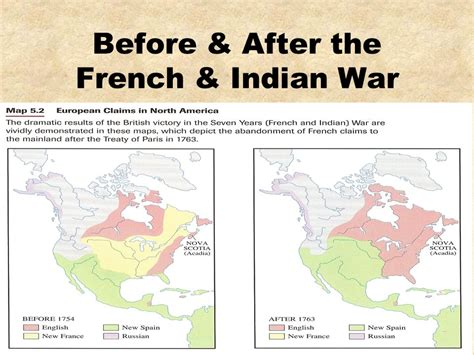 america map before indian war and indian war the seven years war ppt
