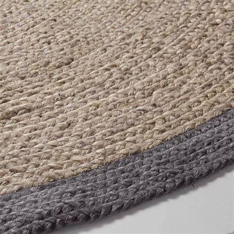 tappeto rotondo grigio bals in juta 200x200 tappeto rotondo living design