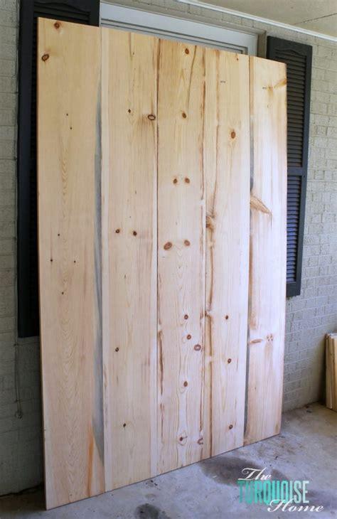 build  sliding barn door  turquoise home