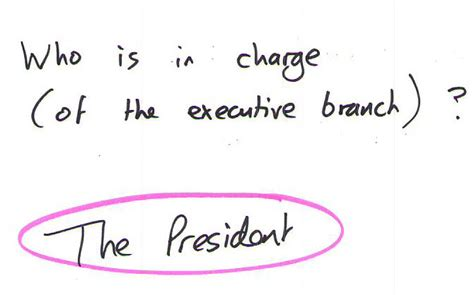 Who Leads The Executive Branch Of Us Government