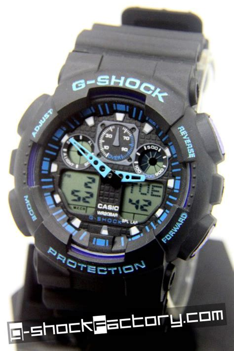 G Shock Gw 8600 Black Blue g shock ga 100 black blue wrist by www g