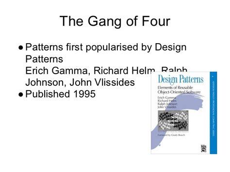 design patterns gamma helm johnson singleton is not the only pattern