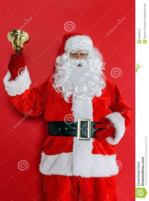 santa ringing his bell royalty free stock photo image