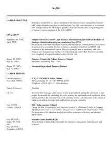 Hr Career Objectives Good Objective For Human Resource Resume Resume Template