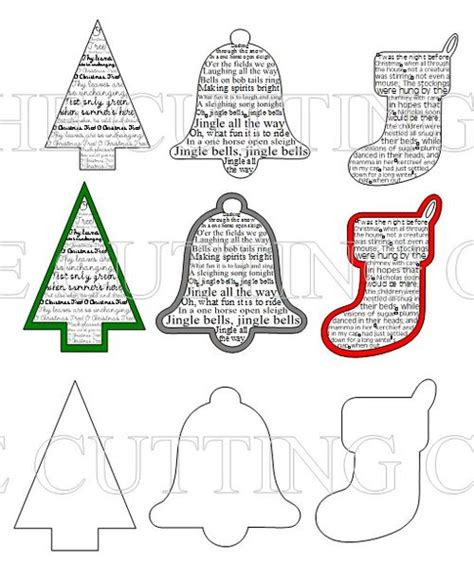 Free Printable Holiday Shapes | christmas shapes new calendar template site