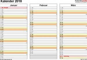 Kalender 2018 Vorlage Pdf Kalender 2018 Zum Ausdrucken Als Pdf 16 Vorlagen Kostenlos