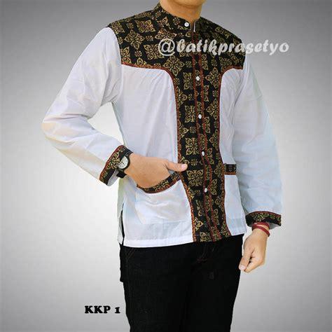 Koko Prada by Baju Batik Koko Kombinasi Prada Kkp 1 Batik Prasetyo