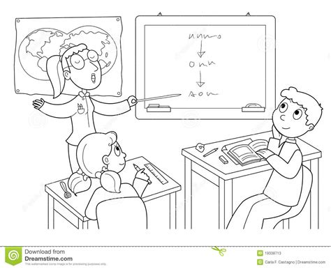 free coloring pages of image of a classroom