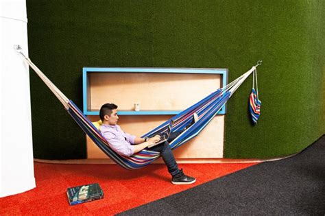 Office Hammock 24 creative features that will improve productivity at the office